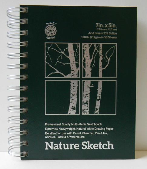 "Pentalic Nature Sketch Pad 5x7"""