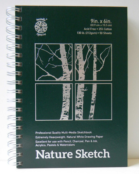 "Pentalic Nature Sketch Pad 9x6"""