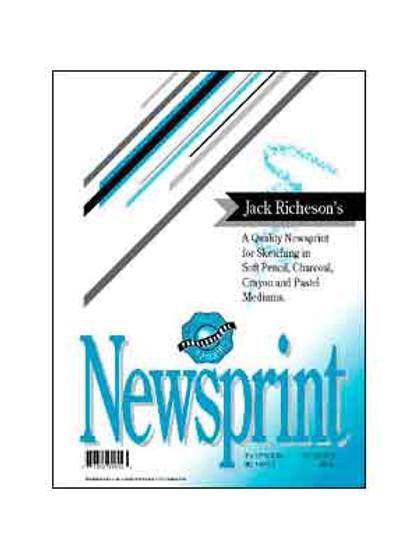 Jack Richeson Rough Newsprint Pad 12x18 100 sheets
