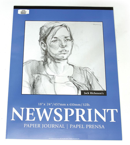 Jack Richeson Newsprint Pad Rough 50shts 24x36-Inch- OVERSIZED: Special Shipping