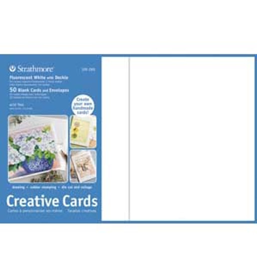 Strathmore Creative Cards Fluorescent White 5x7 50pk