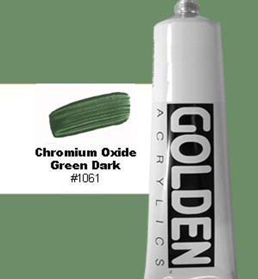 Golden Artist Colors Heavy Body Acrylic 2 oz Chromium Oxide Green Dark