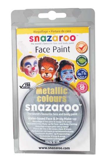 Snazaroo Face Paint 18ml Metallic Silver