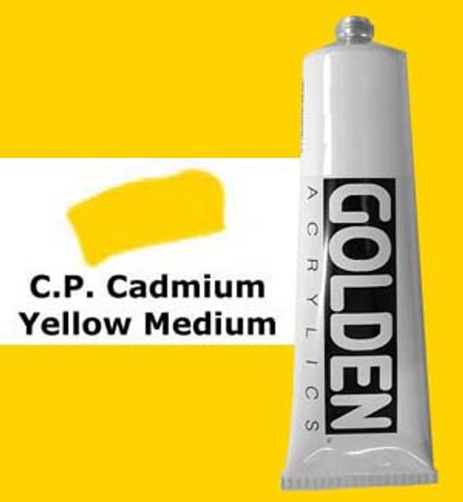 Golden Artist Colors Heavy Body Acrylic: 2oz Cadmium Yellow Medium