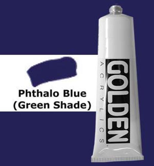 Golden Artist Colors Heavy Body Acrylic: 2oz Phthalo Blue Green Shade