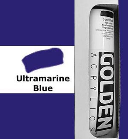 Golden Artist Colors Heavy Body Acrylic: 5oz Ultramarine Blue