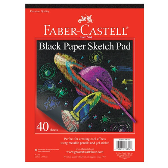 Faber-Castell Red Label Black Paper Sketch Pad 9x12