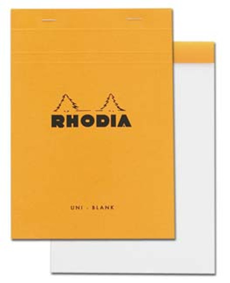 Rhodia Classic Stapled Topbound 6x8.25 Blank