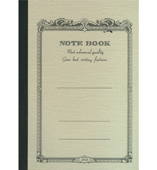 Apica Scrollwork Notebook Lined Yellow 10x7 52sh