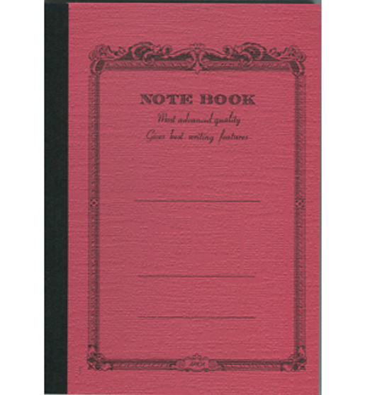 Apica Scrollwork Notebook Lined Red 10x7 52sh