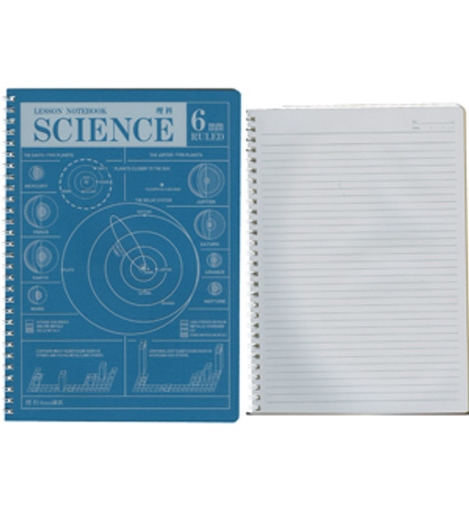 Apica Lesson Notebook Lined 10x7 Science 35sh