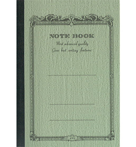 Apica Scrollwork Notebook Lined Green 10x7 52sh