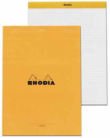 Rhodia Classic Stapled Topbound 8.25x11.75 Lined W/Margin