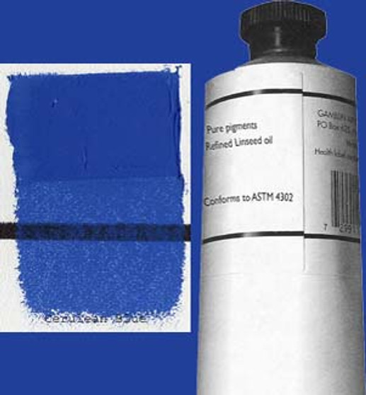 Gamblin Artists Oil Color 150ml Series 6: Cerulean Blue