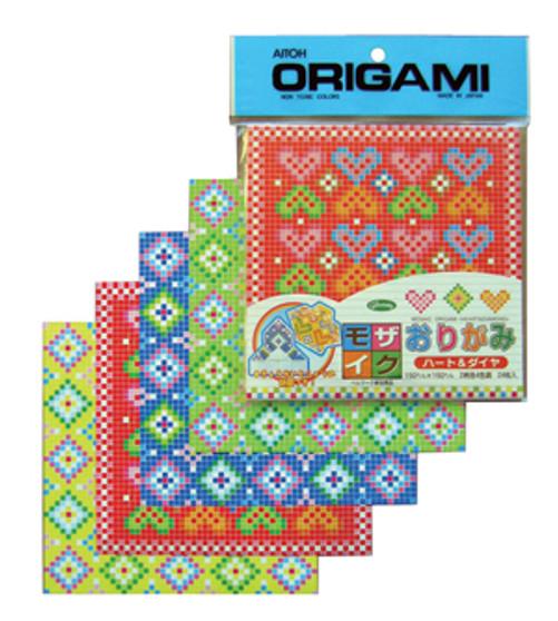 Aitoh Mosaic Hearts and Diamond Pattern Origami