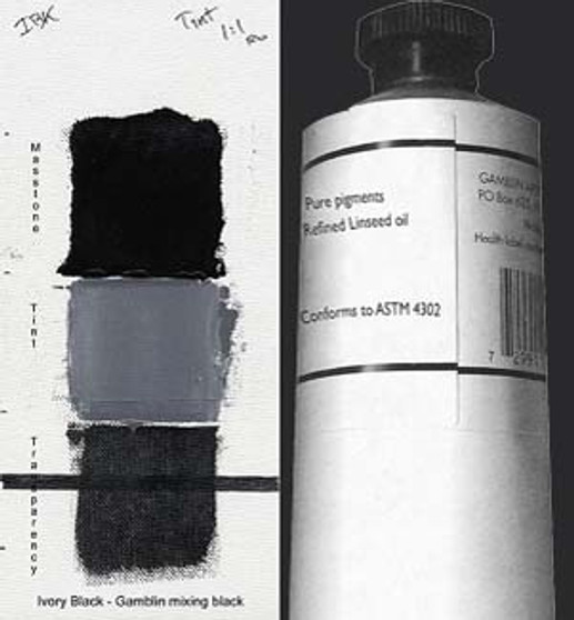 Gamblin Artists Oil Color 150ml Series 1: Ivory Black
