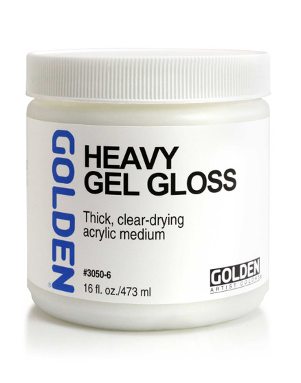 Golden Artist Colors Acrylic Gel: 16oz Heavy Gel Gloss