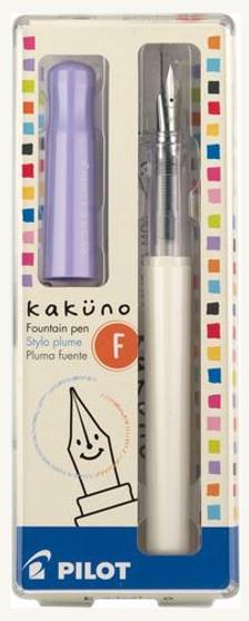 Pilot Kakuno Fountain Pen Fine White/Purple