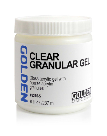 Golden Artist Colors Acrylic Gel: 8oz Clear Granular Gel