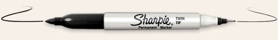 Sanford Sharpie Twin Tip Black
