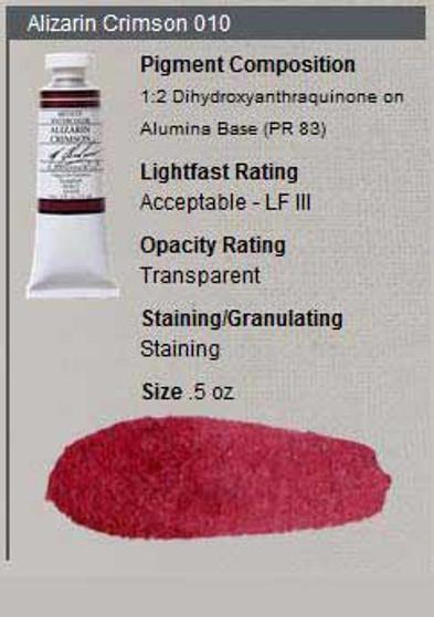M. Graham Watercolor Series 2: 15ml Alizarin Crimson