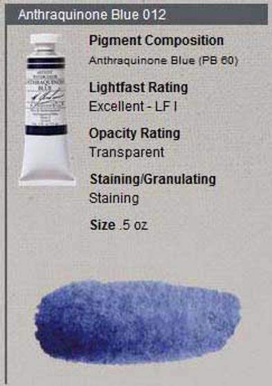 M. Graham Watercolor Series 3: 15ml Anthraquinone Blue