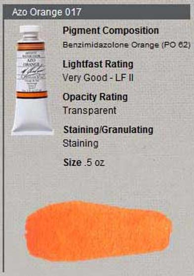 M. Graham Watercolor Series 2: 15ml Azo Orange