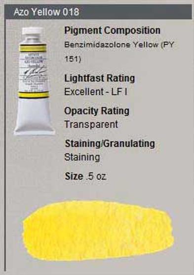 M. Graham Watercolor Series 2: 15ml Azo Yellow