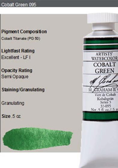 M. Graham Watercolor Series 4: 15ml Cobalt Green