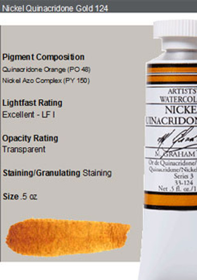 M. Graham Watercolor Series 3: 15ml Nickel Quinacridone Gold