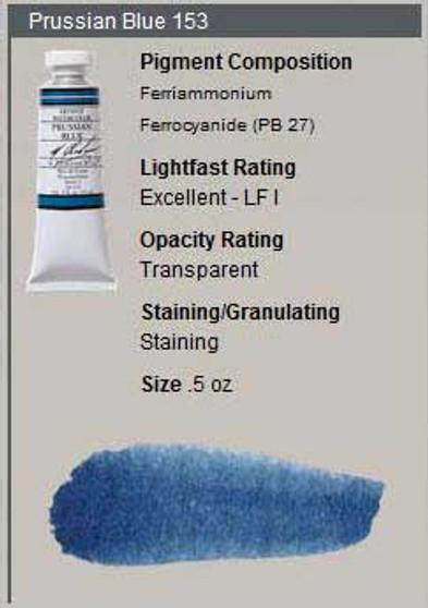M. Graham Watercolor Series 2: 15ml Prussian Blue