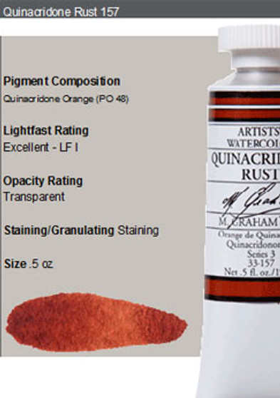 M. Graham Watercolor Series 3: 15ml Quinacridone Rust