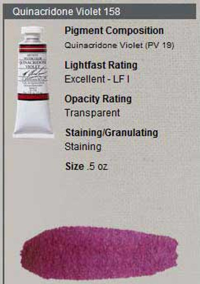 M. Graham Watercolor Series 3: 15ml Quinacridone Violet