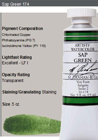 M. Graham Watercolor Series 2: 15ml Sap Green