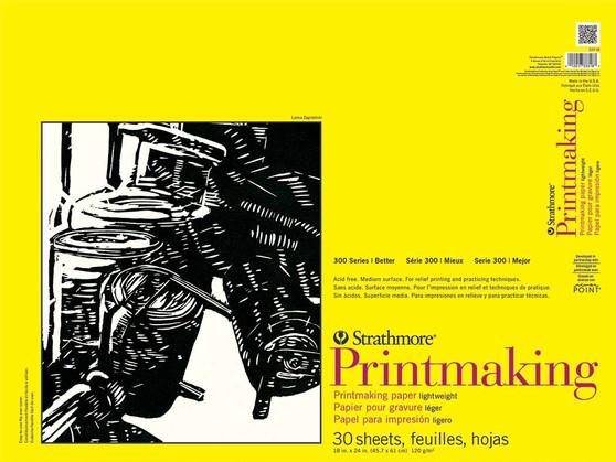 Strathmore 300 Series Lightweight Printmaking Pad 18x24