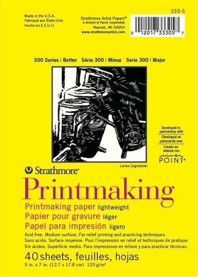 Strathmore 300 Series Lightweight Printmaking Pad 5x7