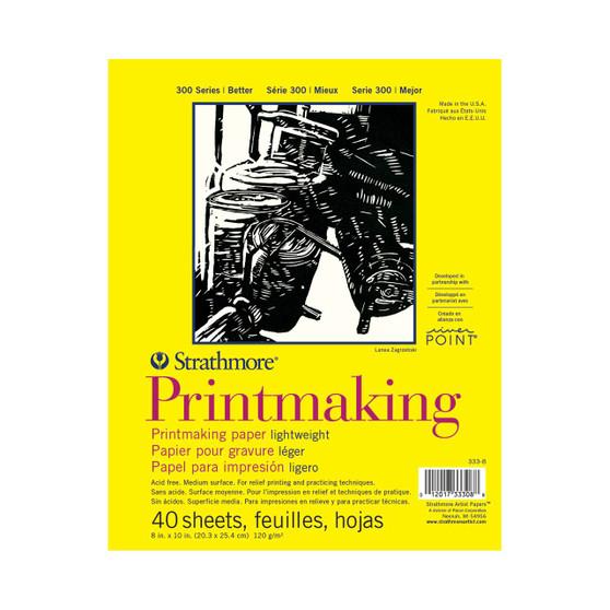 Strathmore 300 Series Lightweight Printmaking Pad 8x10