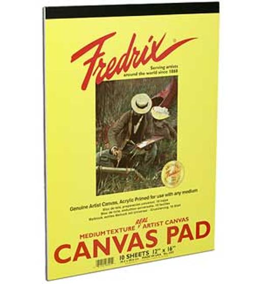 Fredrix Canvas Pad 12x16 10sh
