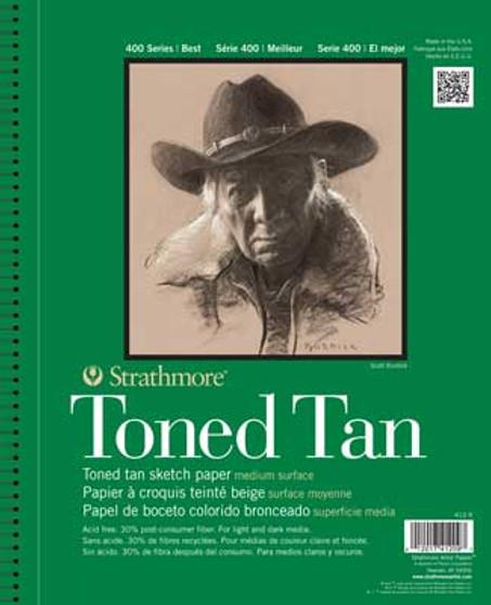 Strathmore Toned Tan Sketch Paper 11x14 Wirebound