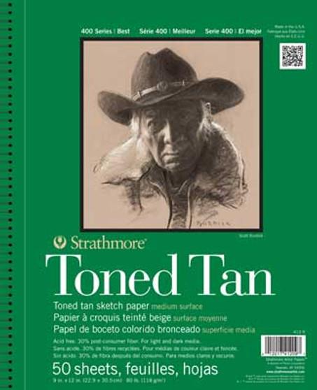 Strathmore Toned Tan Sketch Paper 9x12 Wirebound
