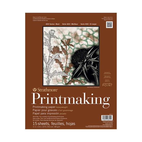 Strathmore 400 Series Heavyweight Printmaking Pad 11x14