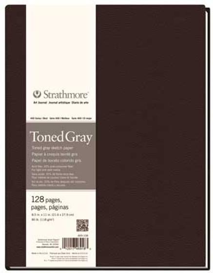 Strathmore 400 Series Toned Gray Hardbound Art Journal 8.5x11