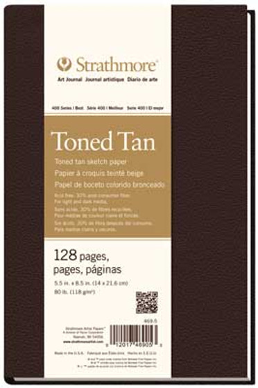Strathmore 400 Series Toned Tan Hardbound Art Journal 5.5x8.5