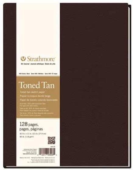 Strathmore 400 Series Toned Tan Hardbound Art Journal 8.5x11