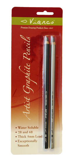 Viarco ArtGraf Water-Soluble Graphite Pencil Set of 2 - 2B and 6B hardness
