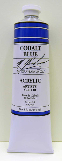 M. Graham Acrylic 5 oz Tube Cobalt Blue