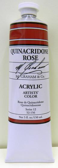 M. Graham Acrylic 5 oz Tube Quinacridone Rose