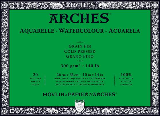 Arches Watercolor Block 140lb Cold Press 10x14