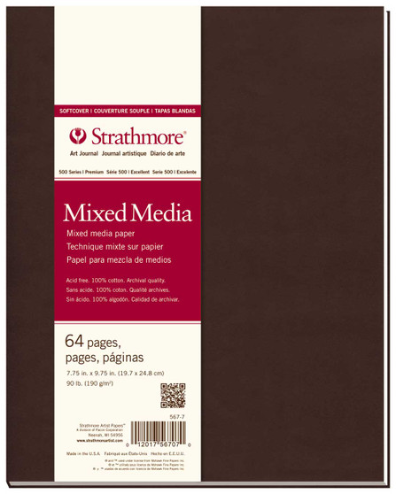 """Strathmore Softcover Mixed Media Journal 7.75x9.75"""""""