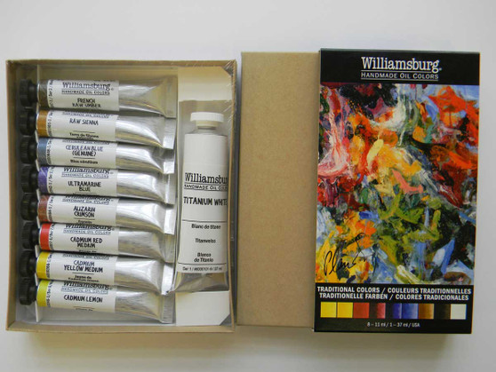 Williamsburg Oil Paint Traditional 9 Color Set